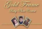 Gold Frame Baby Photo Contest